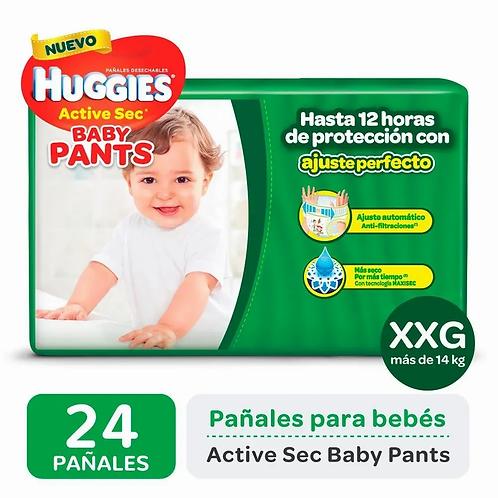 Huggies Active Sec Pant XXG. 24 unidades.