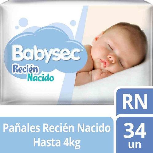 Babysec Recién nacido, 34 unidades.