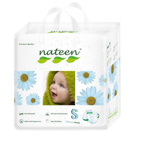 Nateen ( biodegradable) talle S/p 100 unidades