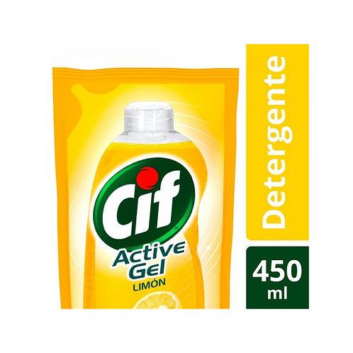 Cif ActiveGel Recarga 450ml Limon