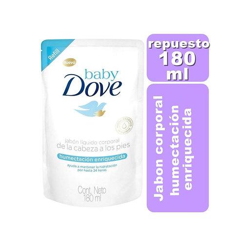 Baby Dove Jabón Corporal 180ml Humectación enriquecida