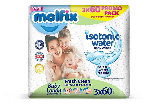 Toallitas húmedas Molfix x Isotonic x 180 unidades