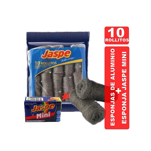 Esponja de Aluminio Jaspe X 10 + Esponja de REGALO