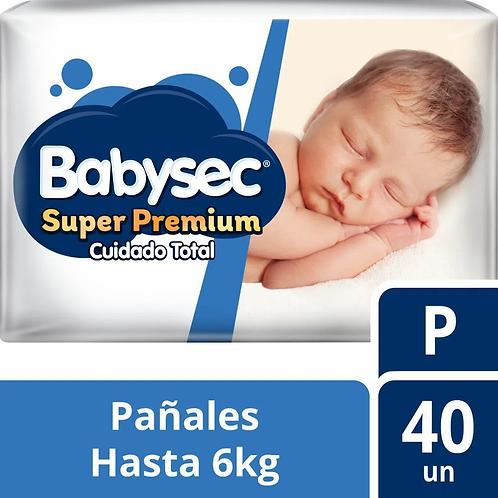 Babysec super Premium  cuidado total P. 40 unidades