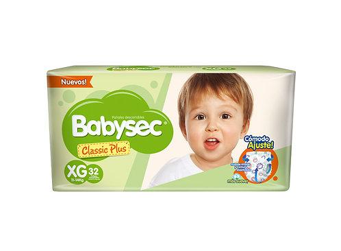 Babysec classic plus XG  x 32 unidades