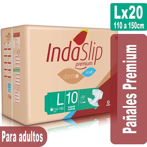 Indaslip Premium Lx20 Pañales absorción 10+