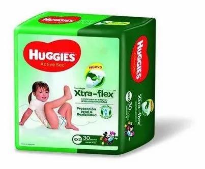 Huggies Active Sec XXG. xtra-flex 90 unidades.