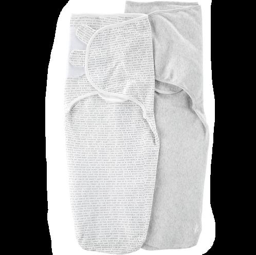 Paquete de 2 mantas Carter's para envolver fáciles y suaves para bebés