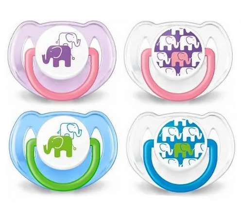 Chupetes  +6 Meses. 2 unidades 100% Silicona Forma  Philips Avent