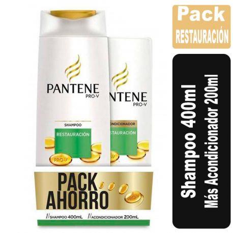 Pack Pantene shampoo 400ml + aco 200ml Restauración