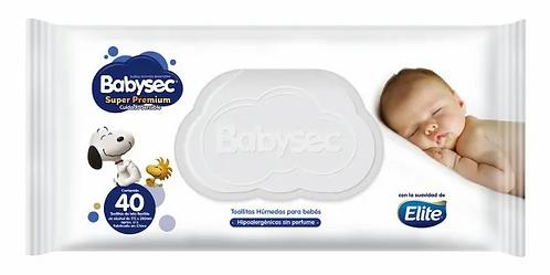 Babysec Super Premium  cuidado total.  Toallitas  40 unidades