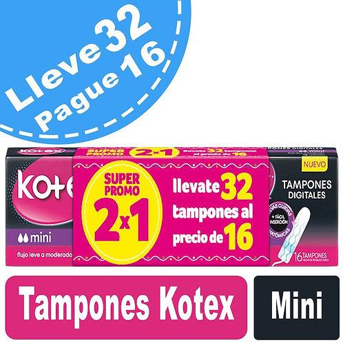 Tampones Kotex Mini x 32