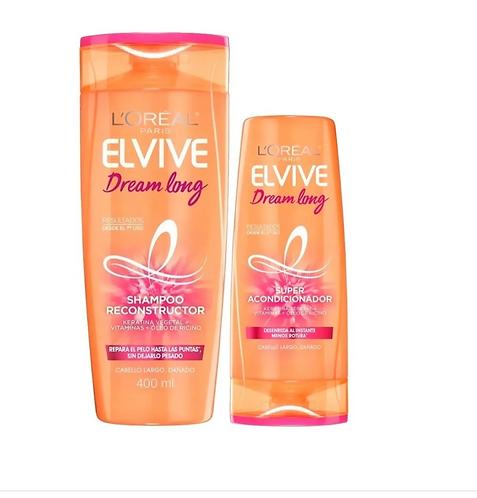 Pack Elvive Dream Long Shampoo 400ml + Acondicionador200ml