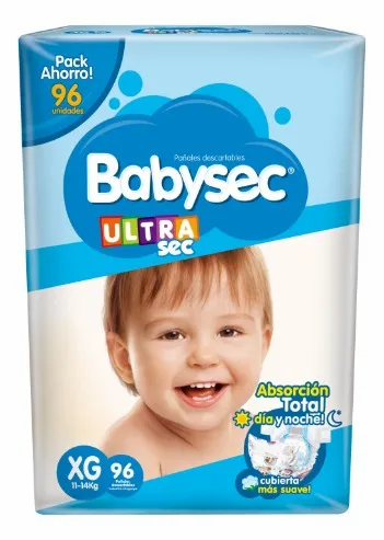 Babysec Ultra XG  96 unidades.