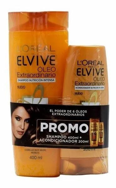 Pack Elvive Óleo Extraordinario Shampoo 400ml + Acondicionador200ml