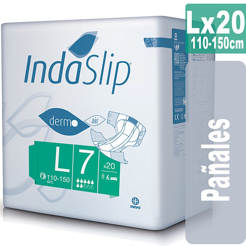 Indaslip derm Lx20 Pañales Absorción 7