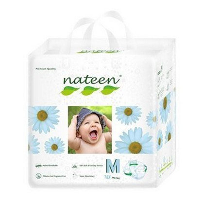 Nateen (biodegradable)  talle M.  18 unidades.