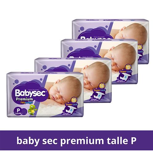Pañales babysec premium talle P 144 pañales