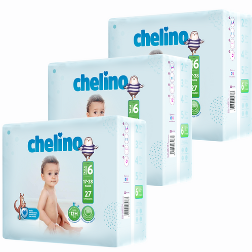 Pack Chelino  Talle 6 x 81 unidades