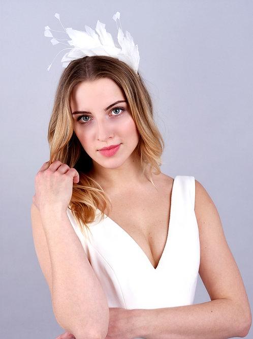 Fascynator CHLOE White
