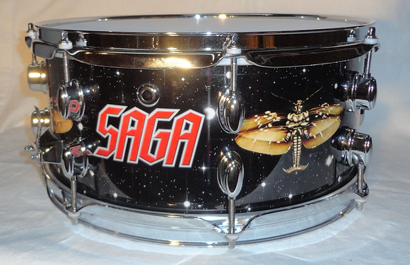 "Custom SAGA snare 6 1/2"" x 14"""