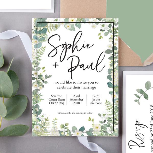 Sanders Floral Wedding Invite