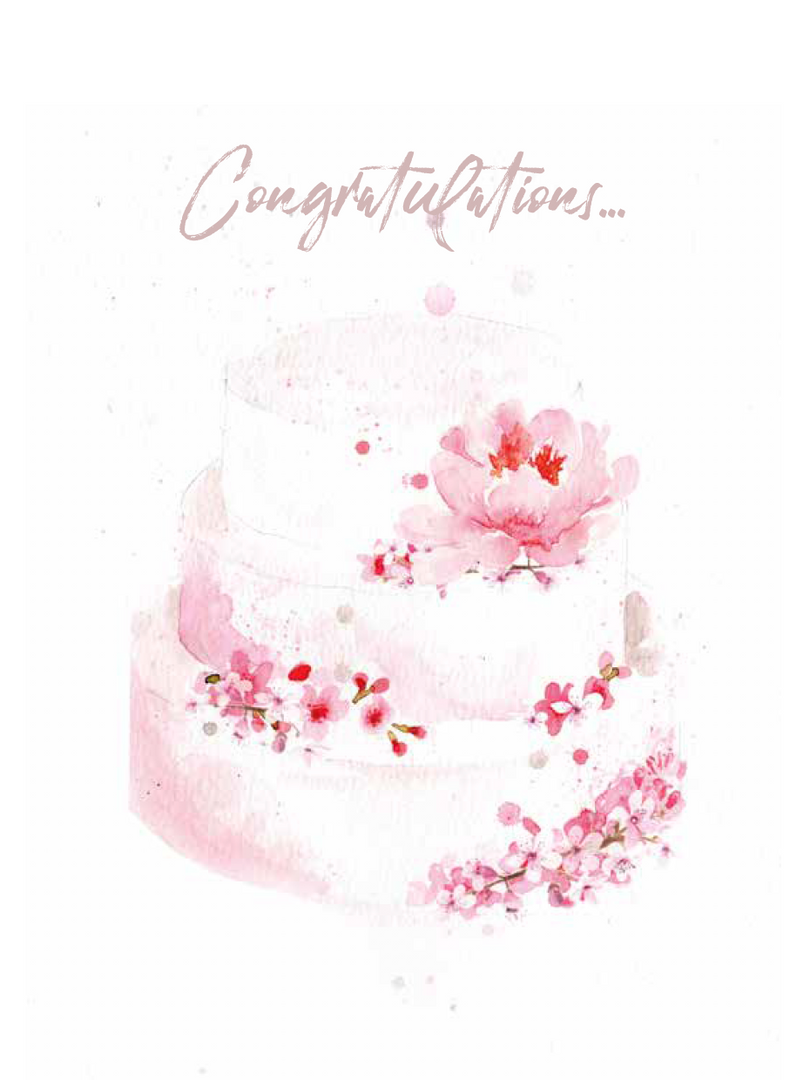 Cherry Tree Cakerie Wedding Card