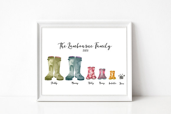 Family Welly Portrait