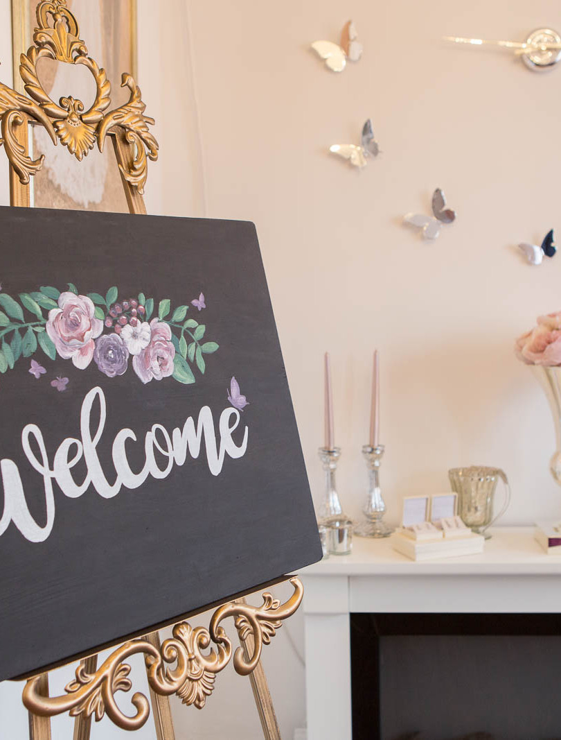 Butterfly Bridal Boutique Chalkboard