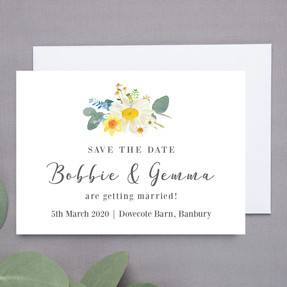 Bluebell Floral Save The Date