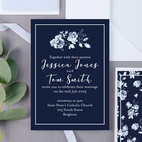 Rickard Rose Floral Wedding Invite