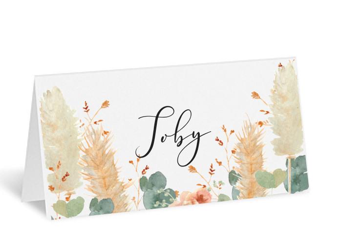 Soft Hue Place Card