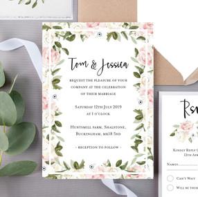 Huntsmill Floral Wedding Invite