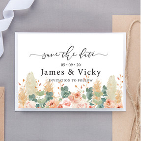 Soft Hues Save The Date