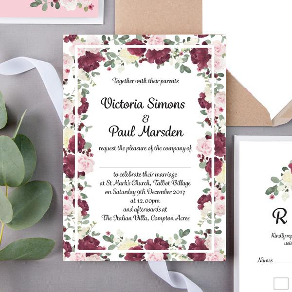 Marsden Floral Wedding Invite