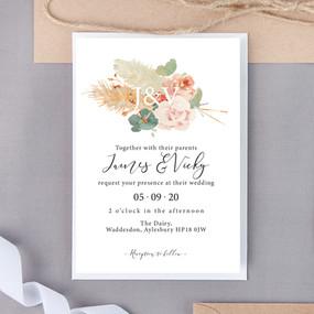 Soft Hue Wedding Invite