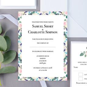 Short Floral Wedding Invite