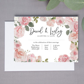Wright Floral Wedding Invite