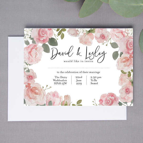 Wright Floral Wedding Invite