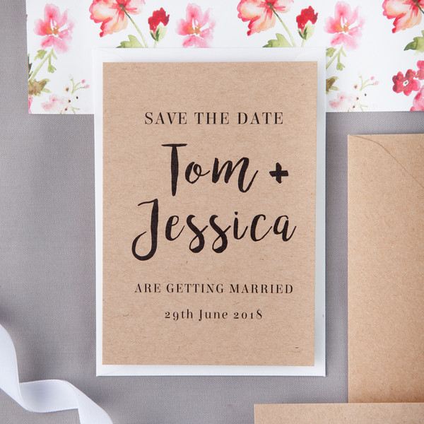 Folk Floral Save The Date