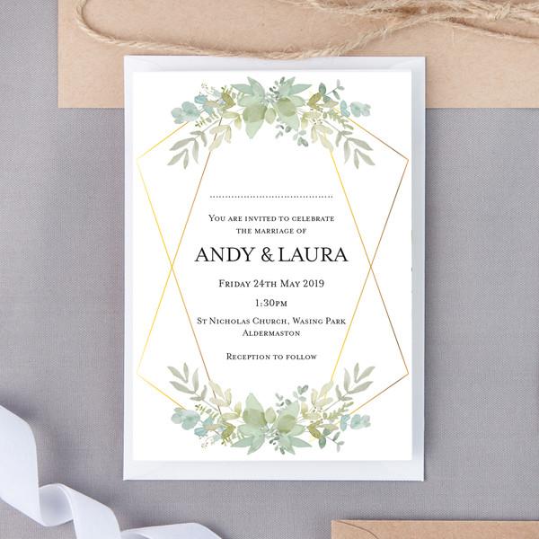Hardie Floral Wedding Invite