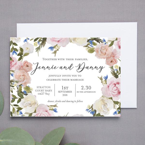 Tylec Floral Wedding Invite