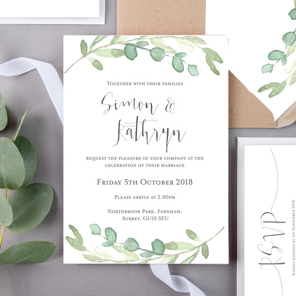 Nezic Floral Wedding Invite