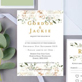 Moores Floral Wedding Invite