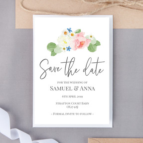 Welsh Floral Save The Date