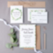 Floral Wreath Wedding Invite Set - STD, Wedding Invite, RSVP