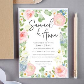 Welsh Floral Wedding Invite