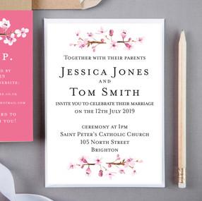 Blossom Floral Wedding Invite