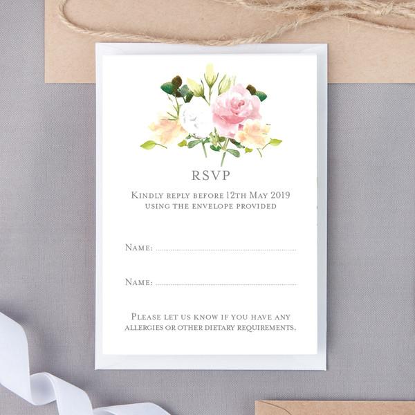 Pearl Bouquet Floral RSVP