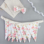 Printed Fabric Bunting wit matching Bow Tie